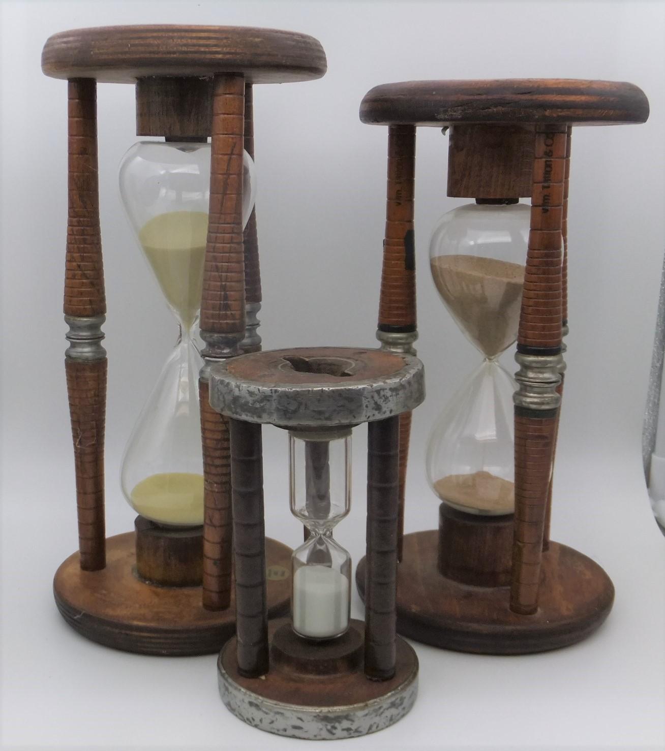 Antique Bobbin Sand Timers