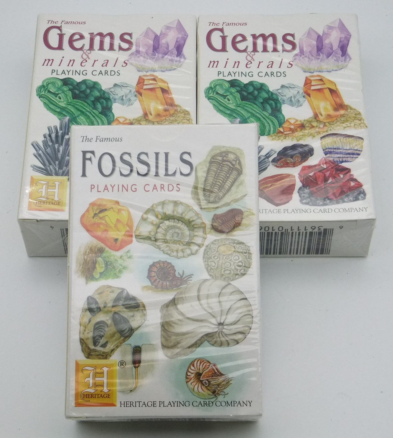 Gems & Minerals and Fossils Playing Cards