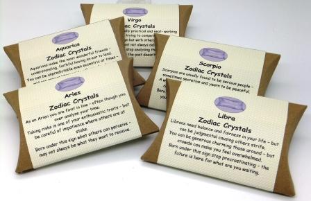 Zodiac Crystals from The Pillow Box Crystal Co.