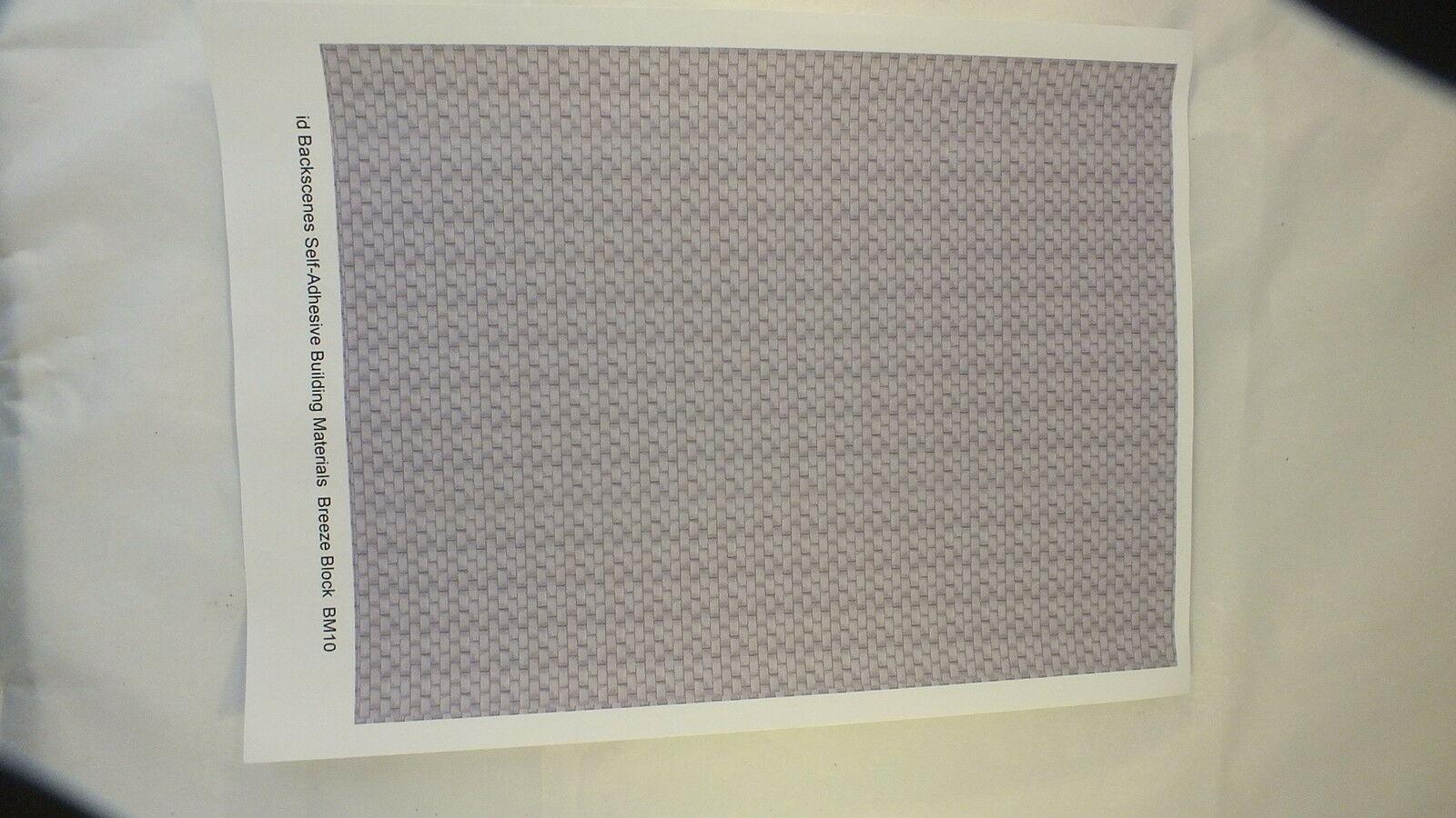 BM10 # JAVIS BREEZE BLOCK WALL SELF ADHESIVE SINGLE A4 SHEET   S2D