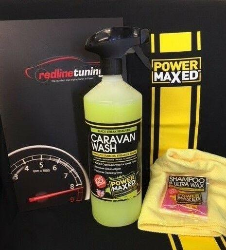 Power Maxed Caravan Wash & Wax 1 litre+Free Micro fibre,Shampoo & Ultra Wax