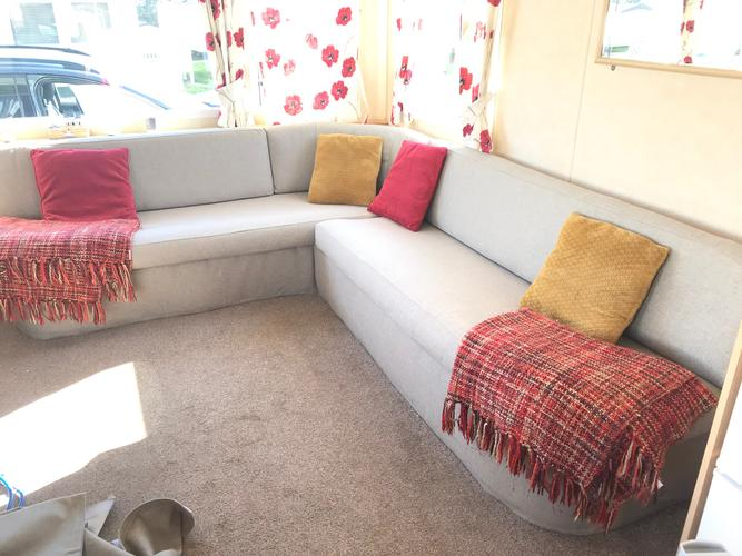 Caravan tailored seat covers for tourers and Statics A little look at our latest static caravan covers makeover and  transformation. A day out at Primrose valley and a very happy customer.