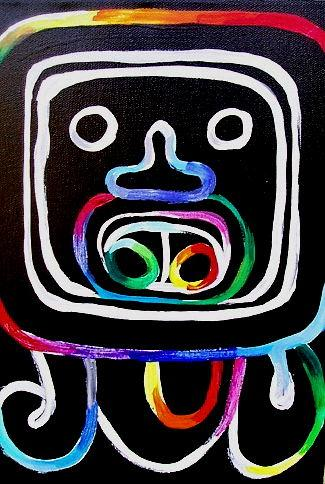 AHAU (A Mayan Month Glyph) OTHER WORLD JOURNEYS: IMELDA ALMQVIST ART