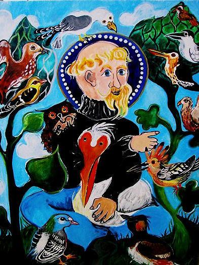 St Francis Preaching to the Birds(Bird World Series)OTHER WORLD JOURNEYS: IMELDA ALMQVIST ART