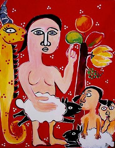 THE LABOURS OF EVEMotherhood Series a painting by Imelda Almqvist