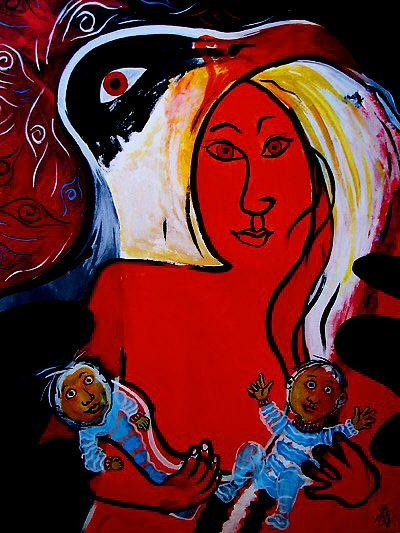 Under My Wing (Motherhood Series)OTHER WORLD JOURNEYS: IMELDA ALMQVIST ART