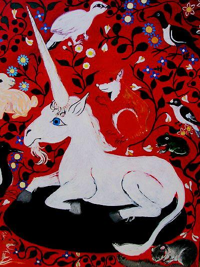 UNICORNMythical Beasts Series a painting by Imelda Almqvist