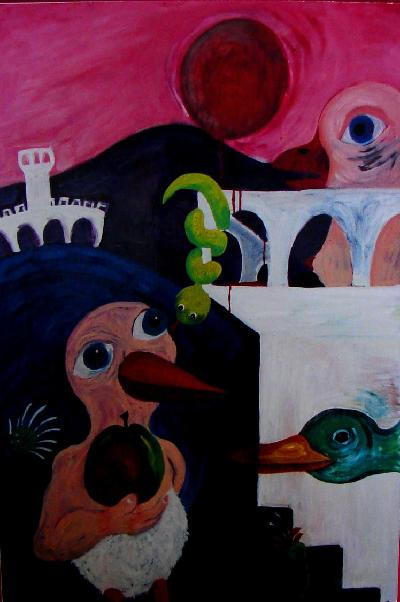 Adam's Apple (Oil Painting)OTHER WORLD JOURNEYS: IMELDA ALMQVIST ART