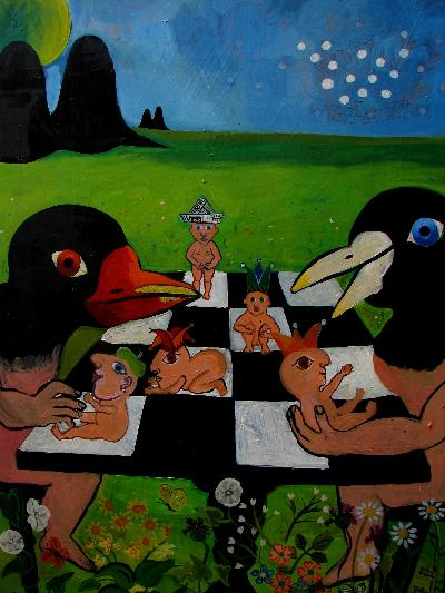 Chess Players (Oil Painting)OTHER WORLD JOURNEYS: IMELDA ALMQVIST ART