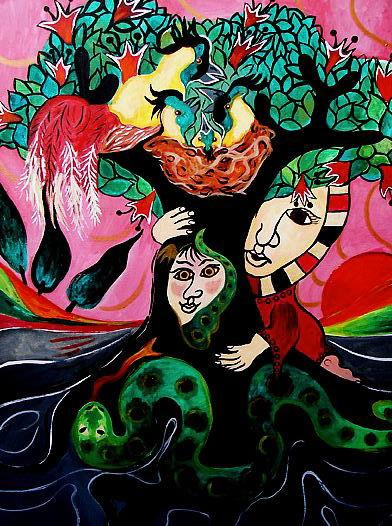 Inanna's Uhullu Tree(Sacred Trees Series)OTHER WORLD JOURNEYS: IMELDA ALMQVIST ART