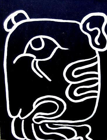 XUL(A Mayan Month Glyph)THE ART OF LANGUAGEOTHER WORLD JOURNEYS: IMELDA ALMQVIST ART