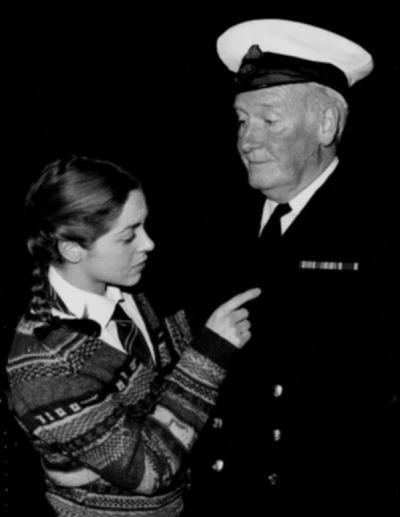 Bob Vahey with Tryphena Milford